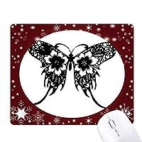 花と蝶の羽の中国風の オフィス用雪ゴムマウスパッド