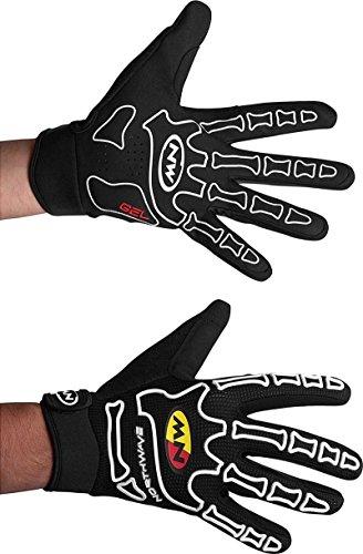 Northwave Skeleton Fahrrad Handschuhe lang schwarz/weiß 2015: Größe: XL (10)