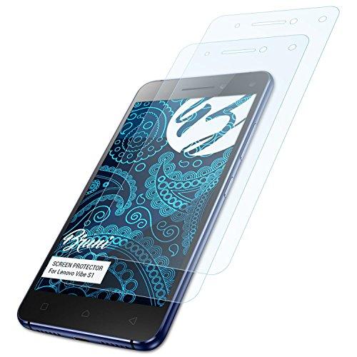 Bruni Schutzfolie kompatibel mit Lenovo Vibe S1 Folie, glasklare Bildschirmschutzfolie (2X)