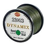 WFT Round Dynamix 1000m geflochtene Angelschnur, Durchmesser:0.35mm;Farbe:Grün