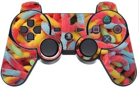 Candy Gummy Worms PS3 Dual Shock wireless controller Vinyl Decal Sticker Skin product image