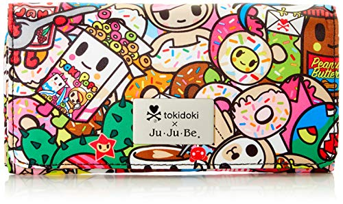 JuJuBe Women's Be Rich Travel Accessory-Tri-Fold Wallet, Tokidoki Tokipops, Large