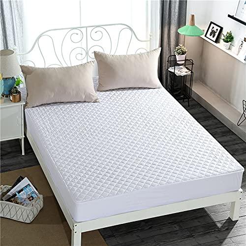NTtie Protector de colchón, algodón, poliéster, Colcha Hotel 100% algodón de una Pieza
