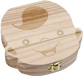 Baby Teeth Box Wooden Tooth Album Souvenir Box Organizer Boy AZ-004