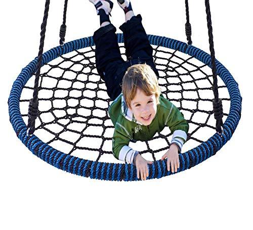 Columpio YXX Nido Jardin Exterior Hamacas Niños Redondo De Árbol Araña 40 Pulgadas, Asiento Platillo Volador Al Aire Libre para Interior, Patio Trasero, Parque Infantil Y