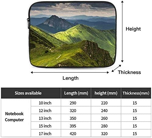 Shockproof Notebook Briefcase Laptop Case Protective Bag Tablet Carrying Case 10-17 Inch Mountains Lake Print Laptop Sleeve