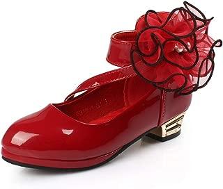通用 HB Girls Princess Ballet Shoes Plat Glitter Low Heel Dance Party Shoes School Shoes for Dress
