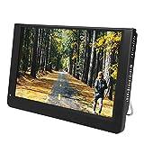 Gaeirt TV Portátil, TV Digital HD 1080P de 12'16: 9 TV Portátil Recargable, Fuente de Alimentación Dual CC Y CA, Tarjeta HDMI/VGA/AV/USB/MMC, Televisión para Cocina, Automóvil, Camping, RV