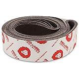 Red Label Abrasives 2 X 72 Inch 36 Grit Aluminum Oxide Metal Sanding Belts, 6 Pack