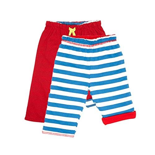 Toby Tiger Organic Cotton Breton Stripe Reversible Trousers Pantalon Bébé garçon, Bleu FR: 1 Mois (Taille Fabricant: 0-3 Months)