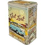 Nostalgic-Art Retro Kaffeedose Volkswagen Bulli – Let's Get Lost – VW Bus Geschenk-Idee, Blech-Dose mit Aromadeckel, Vintage Design, 1,3 l