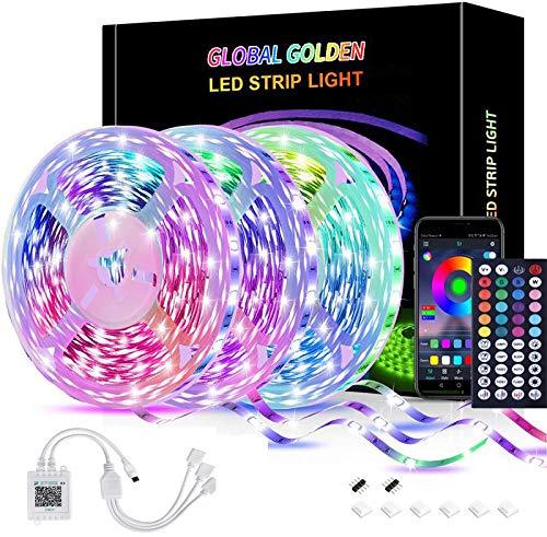 Striscia LED 15m,Strisce LED Colorati Dimmerabile con Controller Bluetooth Musica Sincronizza la...