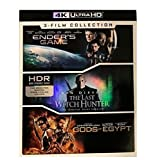 Lions Gate Ender's Game/The Last Witch Hunter/Dioses de Egipto 4K Ultra HD 3 películas