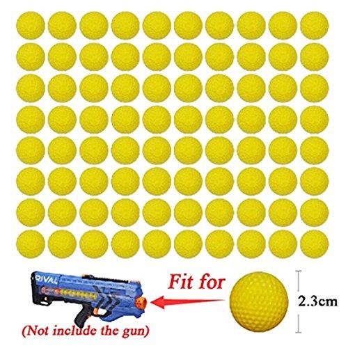 Cosoro 72PCS Round AMMO–Bulk Foam Bullet Ball replacement refill Pack for Nerf Rival Zeus, Apollo, Khaos, Atlas, & Artemis Blasters