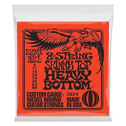 Ernie Ball Flaco superior pesado inferior Slinky 8 cuerdas cuerdas de guitarra eléctrica - 9-80 Gauge