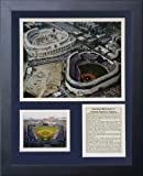 Legends Never Die Yankee Stadium- Then and Now Historical Collectible | Framed Photo Collage Wall Art Decor - 12'x15'