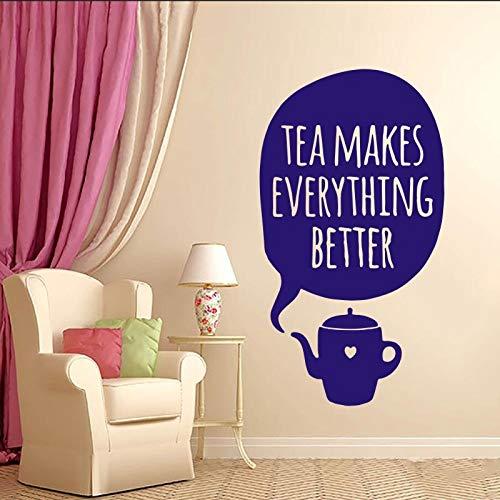 Geiqianjiumai Waschbecken Teetasse Wand Macht Alles Besser Art Design Schlafzimmer Schlafzimmer Küche Wohnzimmer Dekoration lila 23X42CM