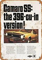 2個 8 x 12 cm メタル サイン - 1967 カマロ SS スポーツ クーペ ラリー スポーツ メタルプレート レトロ アメリカン ブリキ 看板
