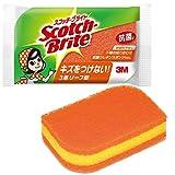 スコッチブライト 抗菌ウレタンスポンジだわし リーフ型 オレンジ 製品画像