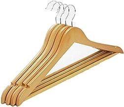 Clothing Supplies 5Pcs Durable Wooden Anti Deformation Clothes Hanger Adult Skirt Dress Clothing Storage Rack Hanger Close...