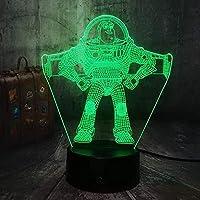 ダロヴィーフェスティバル3D夜ライト3D夜の光3Dイリュージョンランプ3Dビジュアルスライド透明アクリルの夜ライトLEDの変色タッチテーブル電球電球室の装飾ランプ-N17