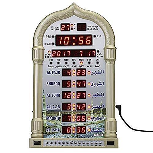 Ljlpropyh Uhren Wecker Azan Clock Led Gebetsuhr Wanduhr Read Home Office Moschee Digital Azan Clock Dekorative Uhr Wohnaccessoires DEK