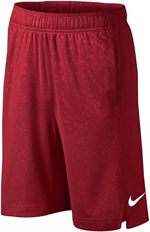 NIKE Boys' Dry Elite Stripe Basketball Shorts (University Red(657) White, Medium)