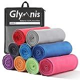 Glymnis Mikrofaser Handtücher Sporthandtuch Strandhandtuch Viele Größen und Farben für Sport Yoga Sauna Fitness und Strand schnelltrocknend saugfähig weich (Grau 21, 80x40cm)