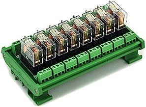 ELECTRONICS-SALON montaje en carril DIN 8 SPDT 16 A Relé de potencia del módulo de interfaz, OMRON G2R - relé 1-e DC24V