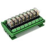 ELECTRONICS-SALON montaje en carril DIN 8 SPDT 16 A Relé de potencia del módulo de inter...