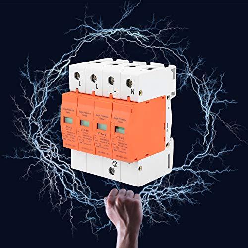 4P 40kA 420vAC Protector de sobrevoltaje de la casa,Dispositivo de supresión de Baja tensión trifásico de Cuatro Cables Jectse de Cuatro Cables,Adecuado para protección contra Rayos de niv