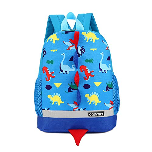 Cosyres Kids Dinosaur Backpack Boys Toddler Backpack Rucksack Blue