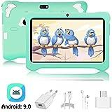 Tablet para Niños Android 9.0 Pie 3GB RAM y 32GB ROM 7 Pulgadas Pantalla Tableta Infantil WiFi Bluetooth Dual Camera 5+2MP Entertainment Education(Google Play)