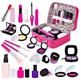 INNOCHEER Juego de maquillaje para niñas, juegos de maquillaje para niños, juego de simulación, juego de maquillaje con bolsa de cosméticos para cumpleaños y Navidad (no maquillaje real)