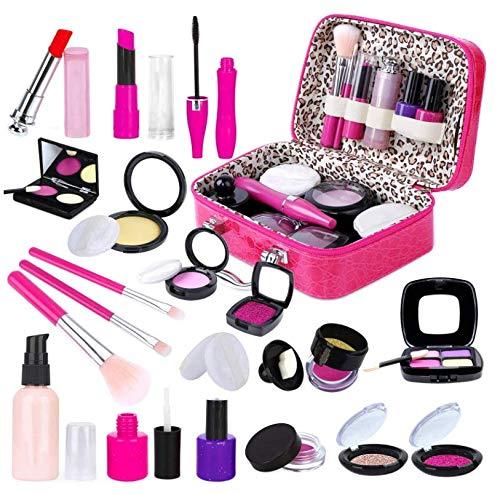 Kinder Rollenspiel Schminkset Mädchen, Make-up-Set Vorgeben, Spiel-Makeup-Set...