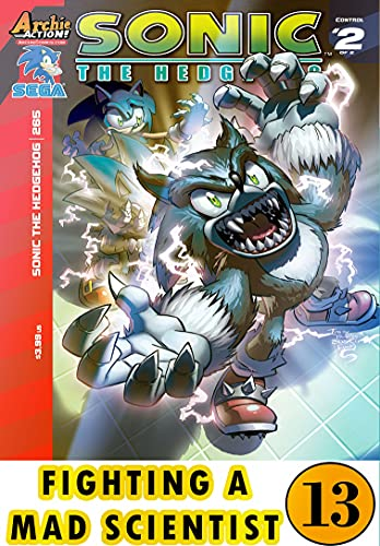 Hedgehog Fighting Mad Scientist: New Collection 13 Funny Graphic Novels Adventure Comic For Kids Children Cartoon Of So-nic (English Edition)