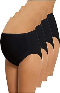 NBB 4件装女式可调节100% 棉孕妇内裤高帮内裤, muti-pack