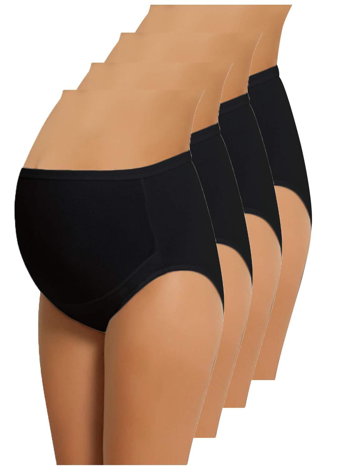 Cotton Whisper 4 Pack Womens Under The Bump Maternity Bikini