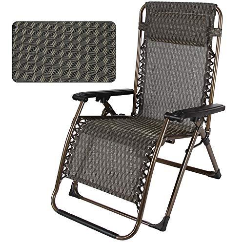 Chaise pliante LVZAIXI Chaise Relaxante À Bascule Portable Été Inclinable Élargie Épaissie Déjeuner Pause Chaise Siesta Lit Lounge Chair (Couleur : B)