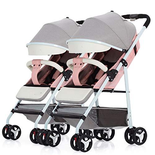 Great Deal! XIAOLI Baby Strollers Double Stroller Detachable Ultra Light Portable Folding Stroller w...