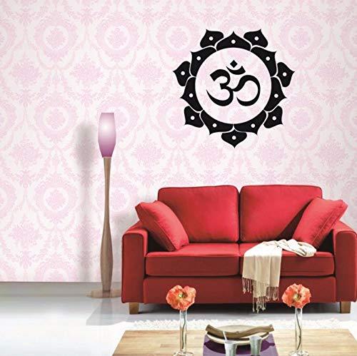 Dalxsh Yoga Herzen Aufkleber Aufkleber VinylQuader Parede Dekor Wandbild YogaAufkleber58X58Cm