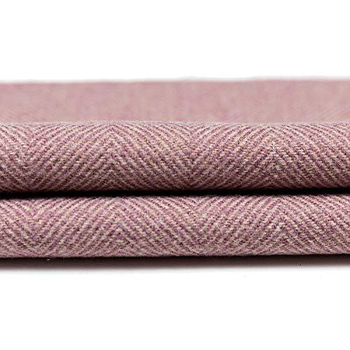 McAlister Textiles Herringbone Tweed   Stoff als Meterware in Flieder Violett   Per halber Meter  ...