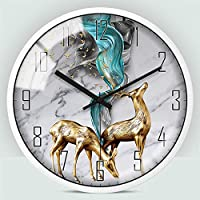 モダンな壁時計、12インチの金属石英壁時計30cmモダンな静かな非刻み目のない壁時計湿度の湿度の湿度寝室のキッチン,18,12IN
