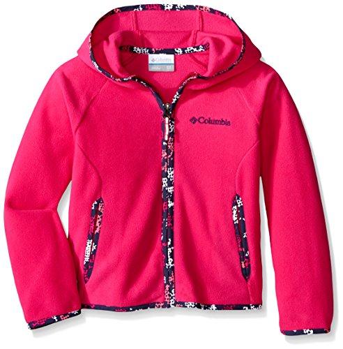 Columbia - Fast Trek II Full Zip - Veste en Polaire - Mixte Enfant - Rose (Haute Pink) - Taille: L