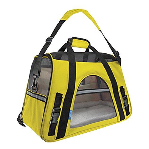 Faltbare Transportbox für Haustiere, Travel Weiche Seiten Tasche Haustier Träger für Hunde & Katzen Gelb Small
