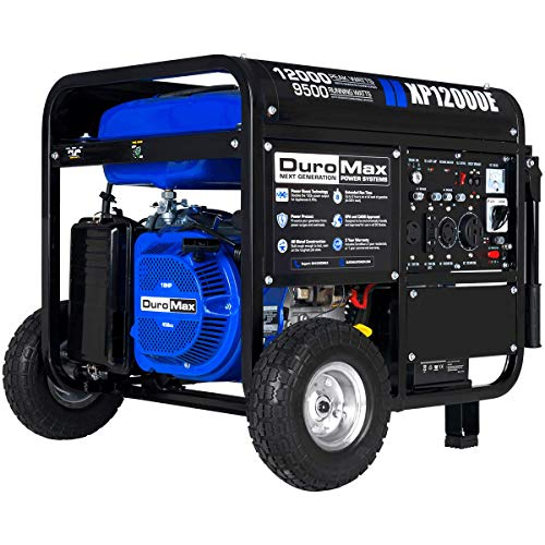 DuroMax XP12000E 12000W Portable Gas Electric Start Generator