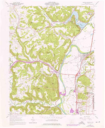 YellowMaps Piketon OH topo map, 1:24000 Scale, 7.5 X 7.5 Minute, Historical, 1961, Updated 1976, 26.9 x 22.1 in - Tyvek