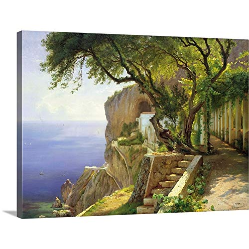"Pergola in Amalfi Canvas Wall Art Print, 48""x36""x1.25"""