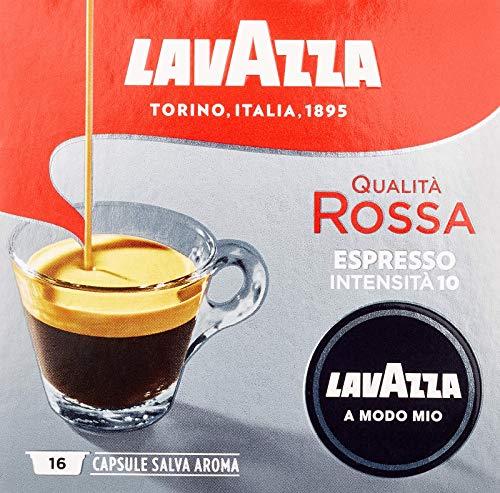 Lavazza A Modo Mio Espresso Qualita Rossa, 2er Pack, 2 x 16 Kapseln (2 x 120 g)