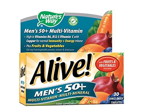 Alive! Men's 50+ Multivitamins - 30 tablets